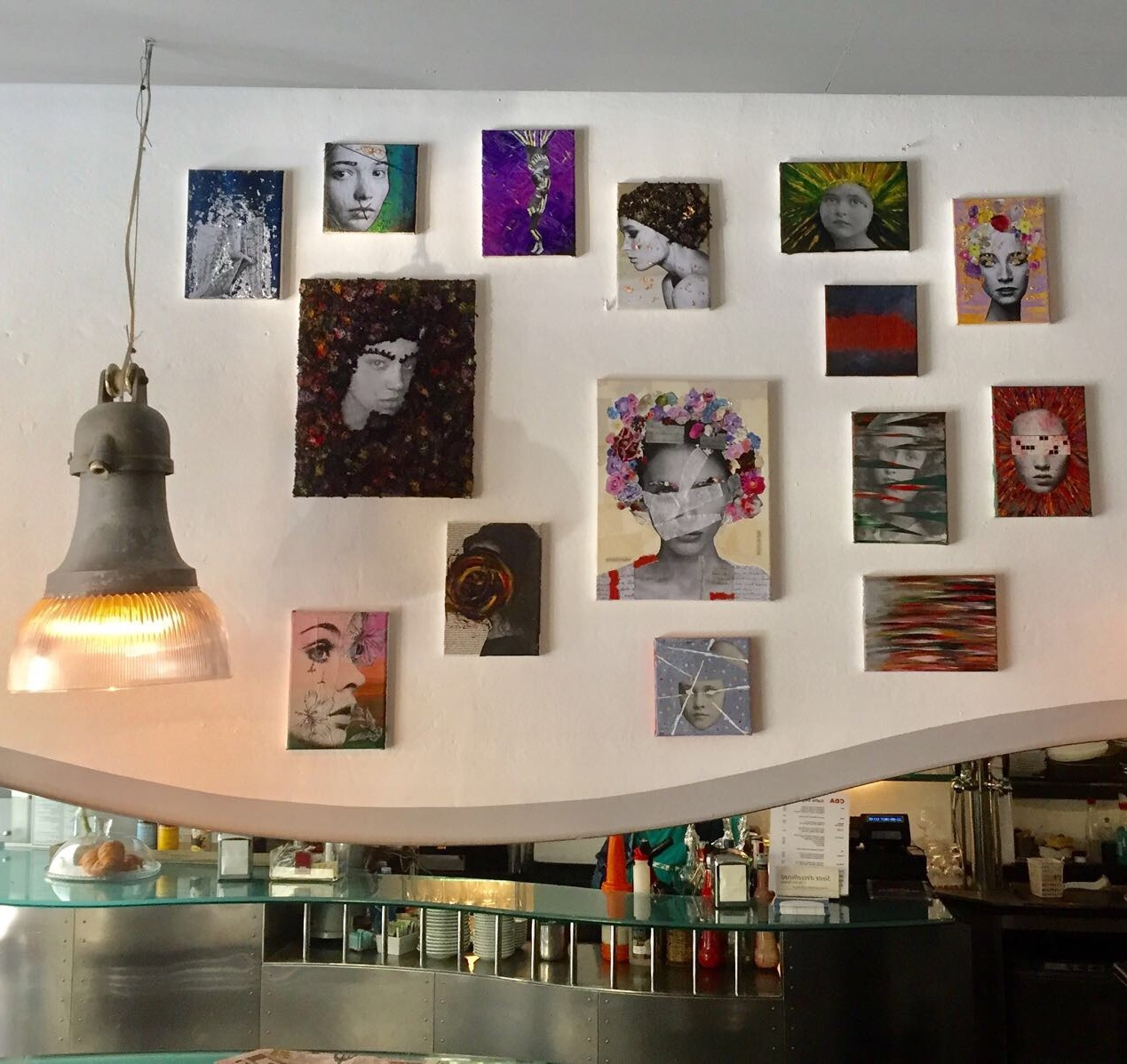 First exhibition at Caffè degli Artisti