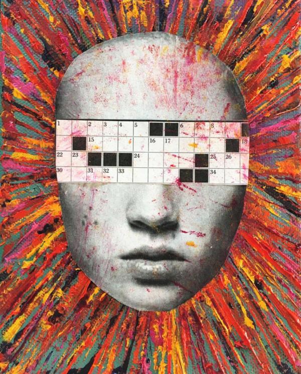 Crossword eyes, crazy head